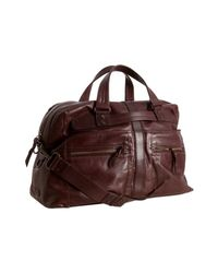 Andrew Marc | Brown Cognac Leather Morgan Weekend Duffel Bag for Men | Lyst