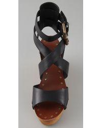 Ash - Black Vicky Crisscross Clog Sandals - Lyst
