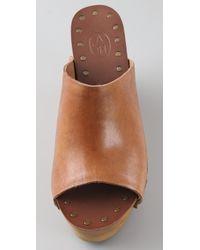 Ash - Brown Venus Wedge Slide Sandals - Lyst