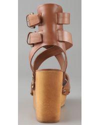 Ash - Natural Vicky Crisscross Clog Sandals - Lyst