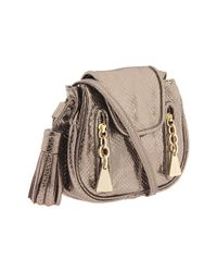 See By Chloé - Metallic Cherry Mini Slouchy Leather Bag - Lyst