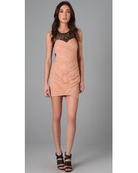 Shakuhachi | Pink Bandage Lace Back Dress | Lyst