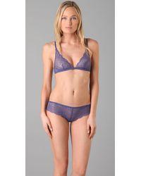 Calvin Klein | Purple Envy Lace Triangle Bra | Lyst