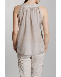 Vanessa Bruno | Gray Silk Sleeveless Top | Lyst