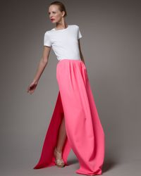 Jil Sander | Pink Long, Side-slit Skirt | Lyst