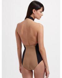 Lisa Marie Fernandez - Green Halter Swimsuit - Lyst