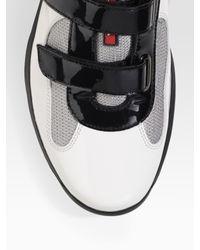Prada | White Double-strap Sneakers for Men | Lyst