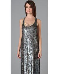 Adam Lippes - Metallic Long T Back Tank Dress - Lyst
