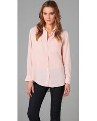 Equipment | Pink Signature Blouse | Lyst