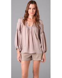 Parker - Pink Peasant Top - Lyst