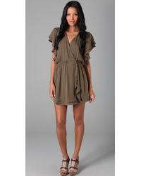 Parker | Green Flowy Wrap Dress | Lyst
