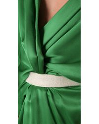 Ports 1961 | Green Draped Dress with Swarovski Belt | Lyst