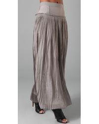 Robert Rodriguez - Gray Chiffon Pleated Long Skirt - Lyst