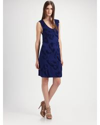 Robert Rodriguez | Blue Tapunto Swirl Dress | Lyst