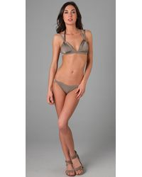 Seventh Wonderland - Brown Belle Fille Triangle Bikini - Lyst