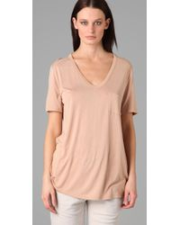 T By Alexander Wang - Natural Classic Pocket Tee - Lyst