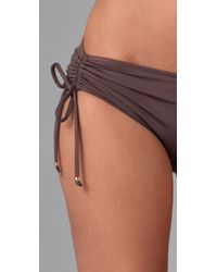 Tibi | Brown Drawstring Boy Short Bikini Bottoms | Lyst
