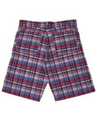 A.P.C. - Red Plaid Madras Bermuda Shorts for Men - Lyst