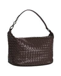 Bottega Veneta | Dark Brown Woven Leather Small Shoulder Bag | Lyst