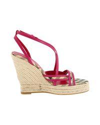 Burberry | Pink Haymarket Colour Trim Espadrille | Lyst