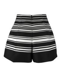Carven | Black Striped Canvas Shorts | Lyst