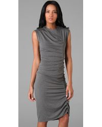 Jarbo - Gray Pleated Dress - Lyst