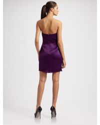 Kara Janx | Purple Silk Bustier Mini Dress | Lyst