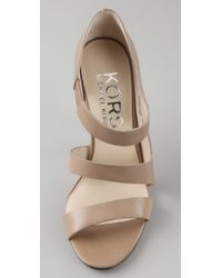 Kors by Michael Kors   Natural Reno High Heel Sandals   Lyst