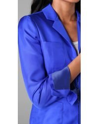 Rachel Roy - Blue Pocket Jacket - Lyst