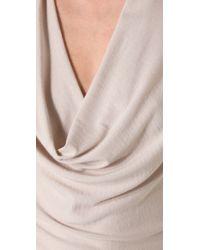 Theory | White Aminata Drape Sweater | Lyst