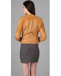 Rag & Bone | Brown Clare Leather Jacket | Lyst