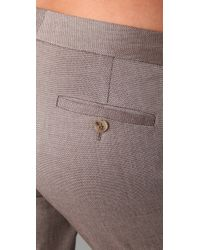Theory - Gray Denison Pants - Lyst