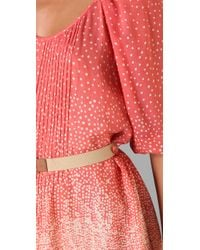 Tibi | Red Constellation Print Shirtdress | Lyst