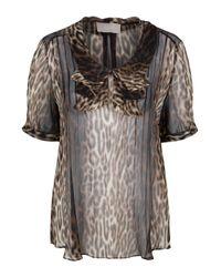 Jason Wu | Multicolor Leopard Print Chiffon Blouse | Lyst