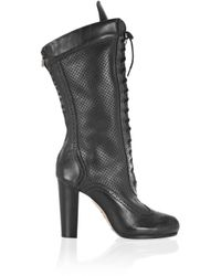 Belstaff | Black New Agnes Lace-up Leather Boots | Lyst
