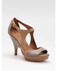 Leifsdottir | Brown Two-tone Platform Sandals | Lyst