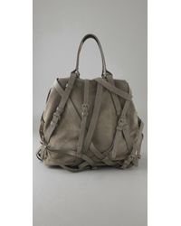 Alexander Wang | Gray Kirsten Suede and Calf Tote | Lyst
