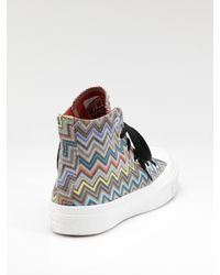 Converse - Multicolor Missoni High-top Sneakers - Lyst
