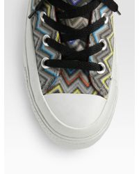 Converse | Multicolor Missoni High-top Sneakers | Lyst