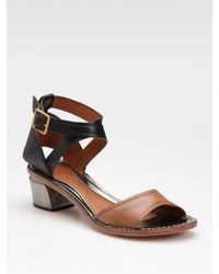 Leifsdottir | Brown Tri-tone Low Sandals | Lyst
