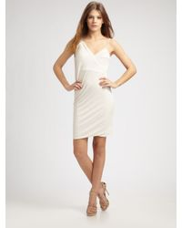 Obakki | White Iris Draped Dress | Lyst