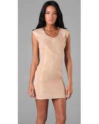 Rag & Bone | Natural Layla Leather Dress | Lyst