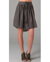 Raquel Allegra | Gray Drawstring Skirt | Lyst