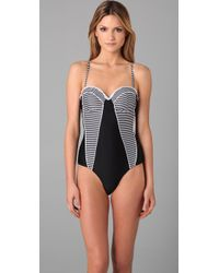 Seventh Wonderland | Black 7pm Paneled One Piece | Lyst
