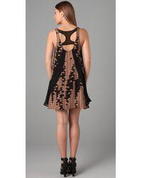 The Addison Story - Black Layered Triangle Print Dress - Lyst