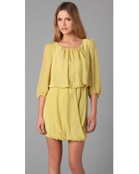 Tibi | Yellow Draped Dress | Lyst