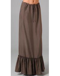 Twelfth Street Cynthia Vincent | Brown Drawstring Waist Long Skirt | Lyst