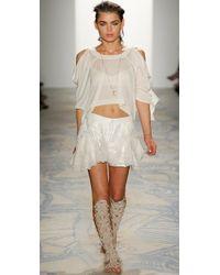 Jen Kao | White Mirage Peplum Shorts | Lyst