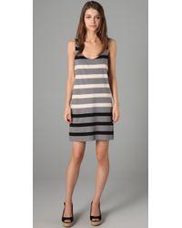Marc By Marc Jacobs - Gray Schooner Stripe Jersey Dress - Lyst