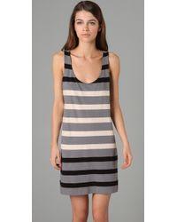 Marc By Marc Jacobs | Gray Schooner Stripe Jersey Dress | Lyst